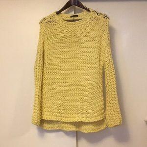 Zara yellow knit sweater small